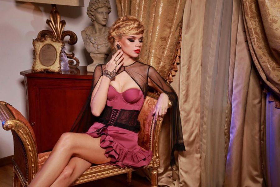 Rochie de cocktail cu corset Passion by D