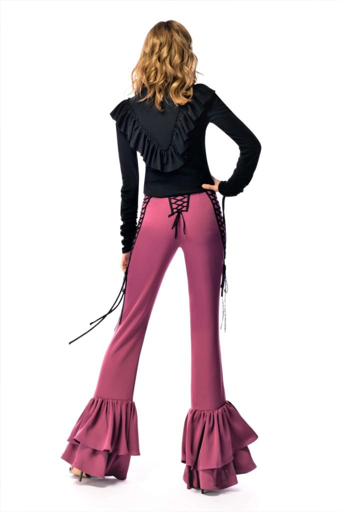 pantaloni evazati dama