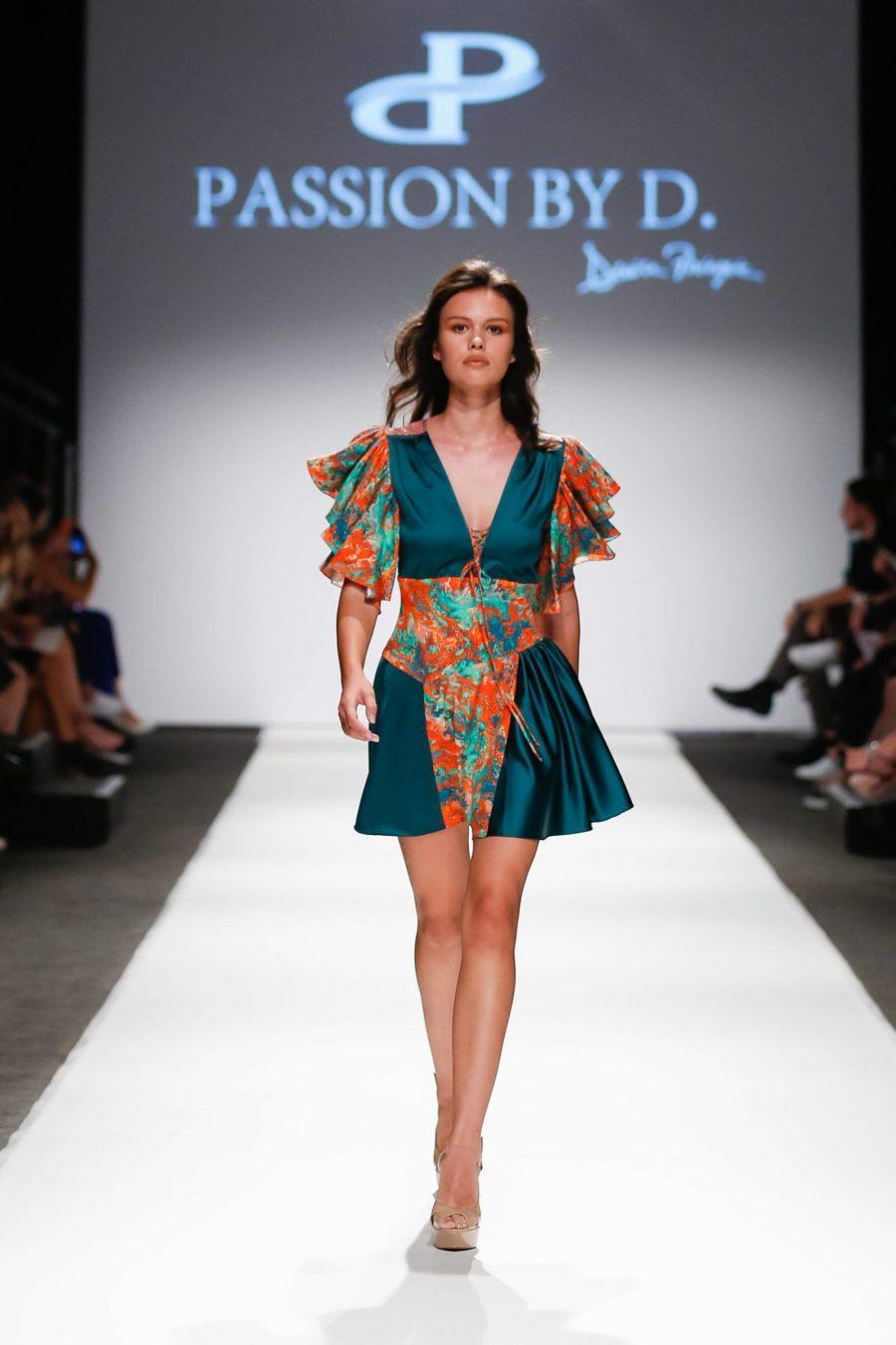 Rochie matase scurta prezentare moda Passion by D MQVFW