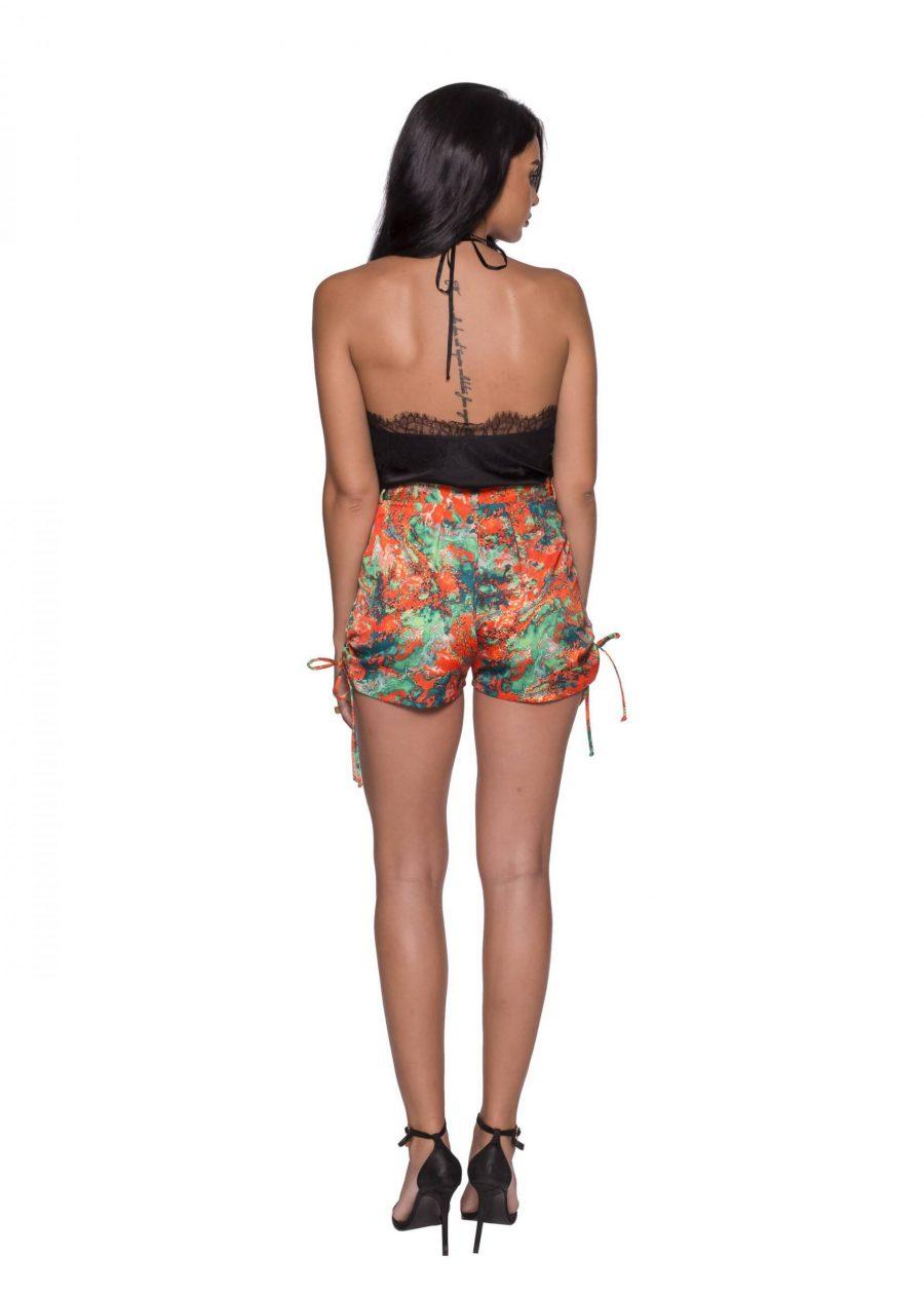 Pantaloni scurti cu print colorat