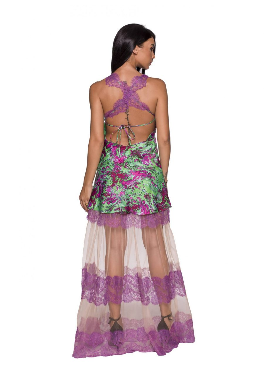 Rochie eleganta cu insertii de dantela