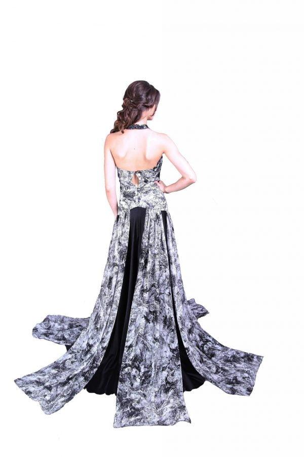 Rochie de seara eleganta cu fasii