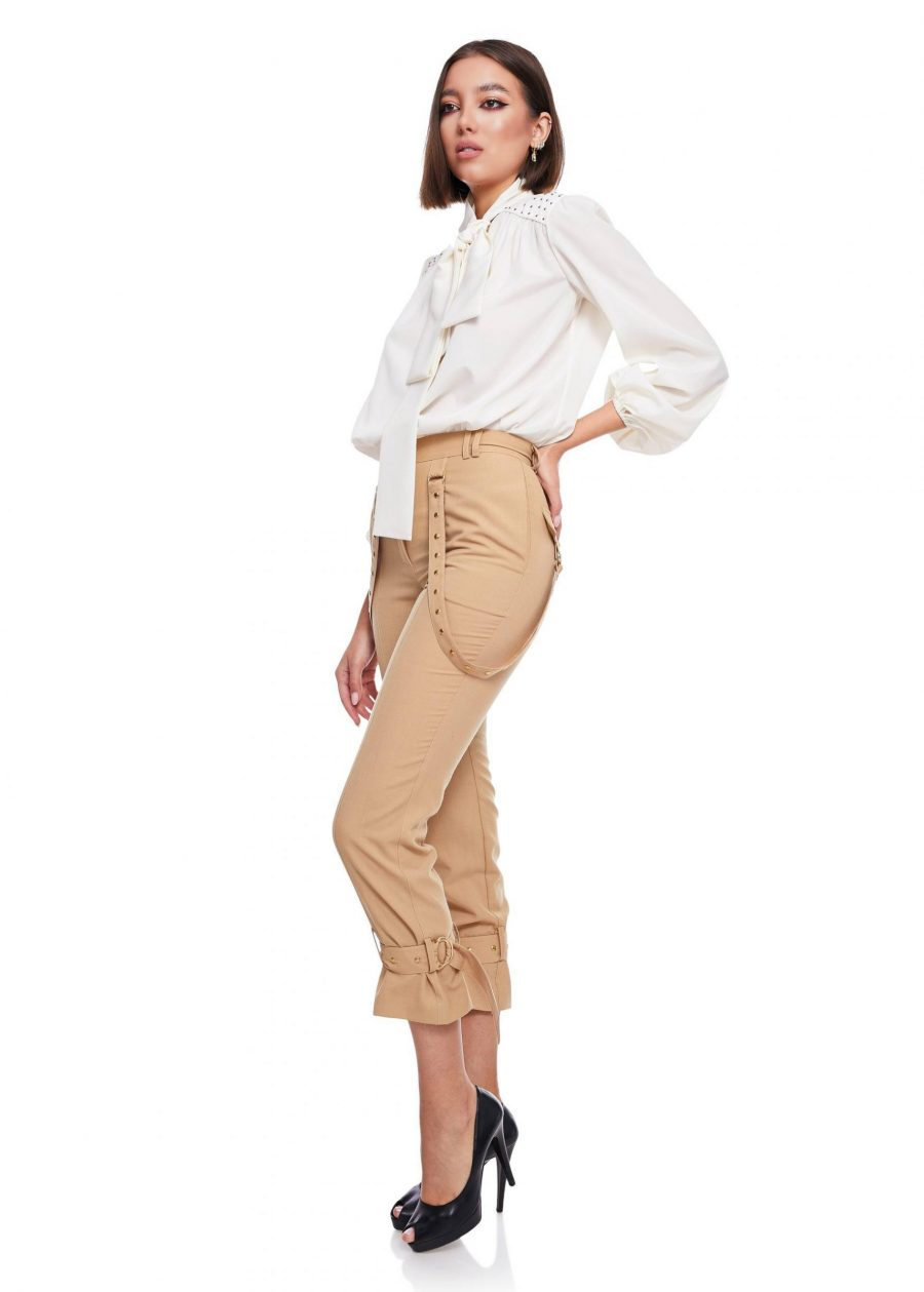 Pantaloni lana stransi pe glezna