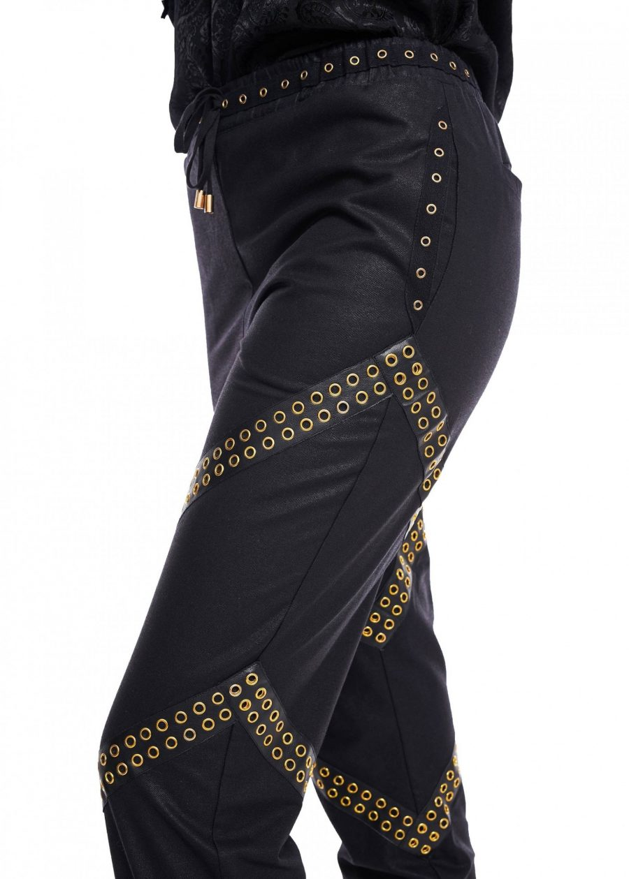 Pantaloni stransi pe glezna cu elastic