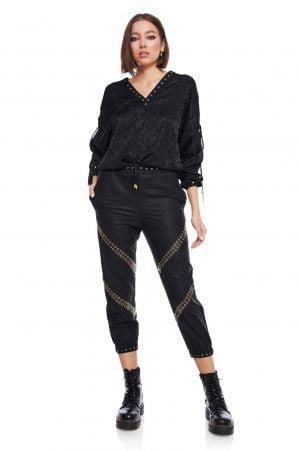 Pantalonasi stransi pe glezna cu elastic