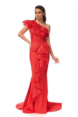 Rochie eleganta de seara sirena rosie