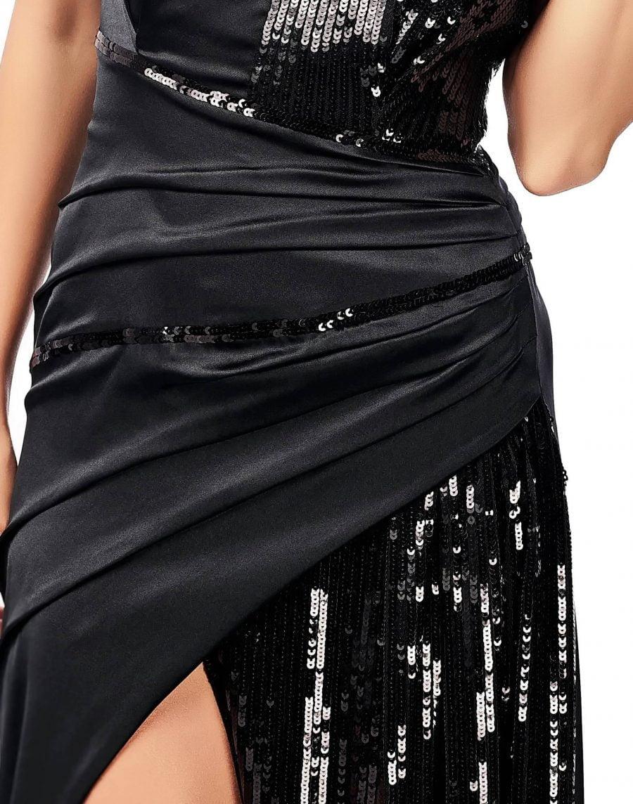Rochie neagra eleganta cu paiete