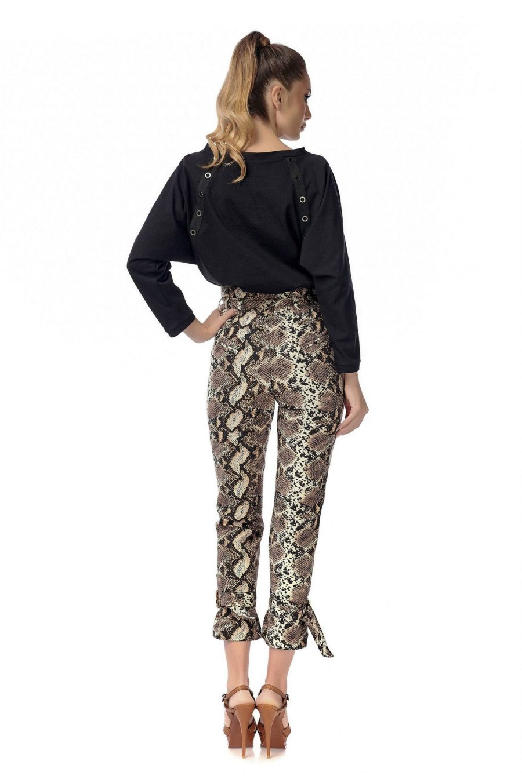 Pantaloni cu print sarpe