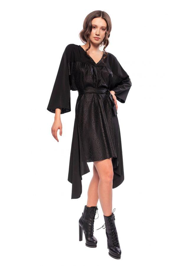 rochie asimetrica neagra